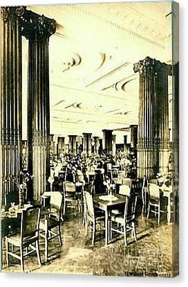 Crystal Tearoom In John Wanamaker's In Philadelphia Pa 1920 Canvas Print
