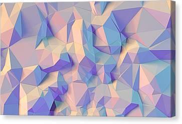 Geometric Style Canvas Print - Crystal Triangle by Vitaliy Gladkiy