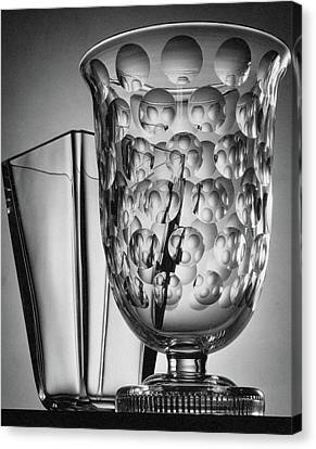 Crystal Vases From Steuben Canvas Print by Peter Nyholm