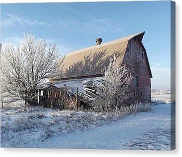 Crystaline Barn Canvas Print by Bonfire Photography
