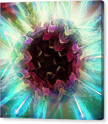Crystalline Entity Canvas Print by AlyZen Moonshadow