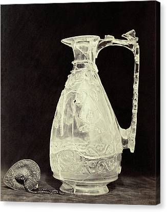 Stopper Canvas Print - Crystals Jug With Metal Stopper Out Of The Louvre by Artokoloro