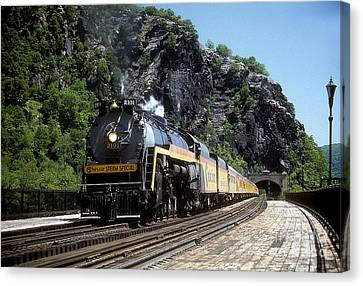 Chessie Steam Special At Harpers Ferry Canvas Print by ELDavis Photography