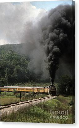 Chessie Steam Special At Lineboro Md Canvas Print by ELDavis Photography