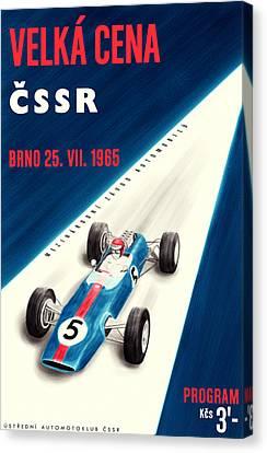 Cssr Grand Prix 1965 Canvas Print by Georgia Fowler