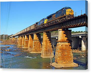 Csx Over Riverfront Park Canvas Print