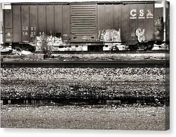 Csx Train Canvas Print - Csx Train by Dan Sproul