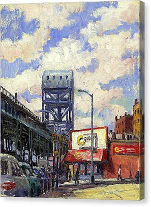 Ctown And The Broadway Bridge The Bronx Canvas Print by Thor Wickstrom