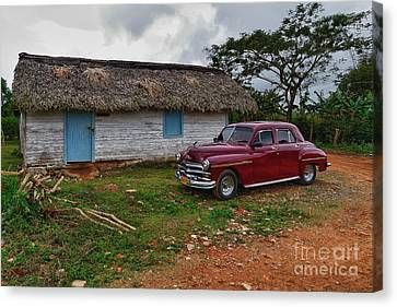 Canvas Print featuring the photograph Cuba Cars 3 by Juergen Klust