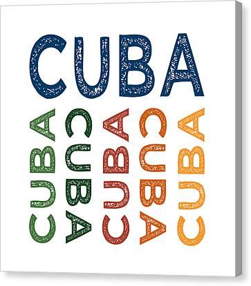 Cuba Cute Colorful Canvas Print by Flo Karp