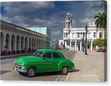 Canvas Print featuring the photograph Cuba Green  by Juergen Klust