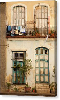 Cuba, Havana, Havana Vieja, Old Havana Canvas Print by Walter Bibikow