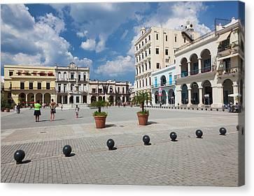 Cuba, Havana, Havana Vieja, Plaza Vieja Canvas Print by Walter Bibikow