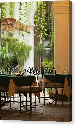 Habana Canvas Print - Cuba, Havana, Havana Vieja, Restaurant by Walter Bibikow