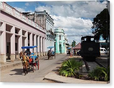 Cuba, Matanzas Province, Colon, Horse Canvas Print by Walter Bibikow