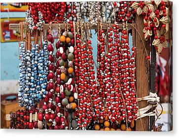 Cuba, Trinidad Beaded Necklaces Canvas Print