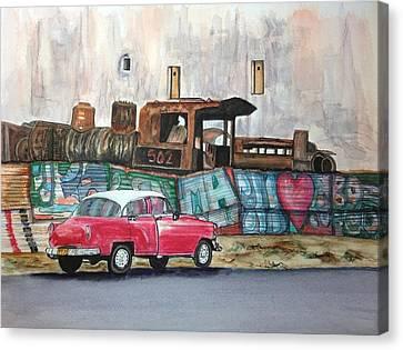 Cuban Cityscape Canvas Print by Susan Roberts
