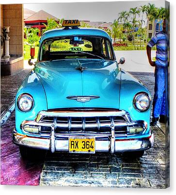 Cuban Taxi			 Canvas Print by Pennie  McCracken