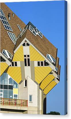 Cube Houses Canvas Print by Alex Bartel