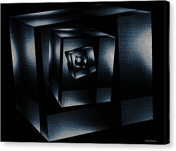 Cube In Cube Canvas Print by Ramon Martinez