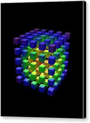 Canvas Print featuring the digital art Cube Of Cubes... by Tim Fillingim