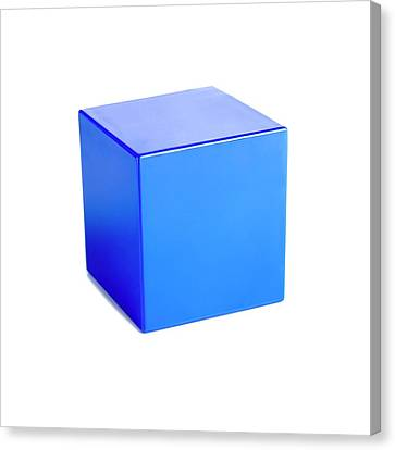Platonic Canvas Print - Cube by Science Photo Library