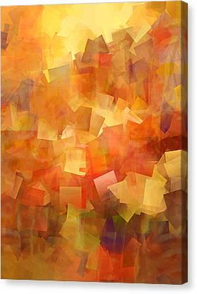 Cubic Lightbreak Canvas Print by Ann Croon