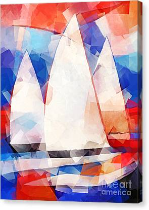 Cubic Sails Canvas Print by Lutz Baar