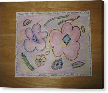 Cubism Flowers 4 Canvas Print
