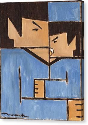 Star Trek Canvas Print - Cubism Spock Baby Spock Art Print by Tommervik