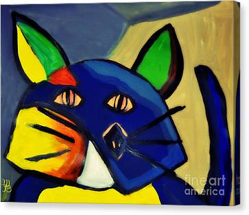 Cubist Inspired Cat  Canvas Print