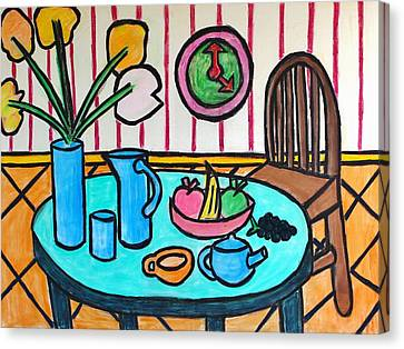 Cubist Lunch Canvas Print