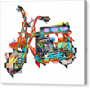 Cubist Mini Bike Canvas Print