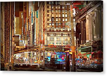 Grand Central And 42nd St Canvas Print by Miriam Danar