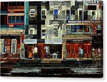 Shops Canvas Print by Miriam Danar
