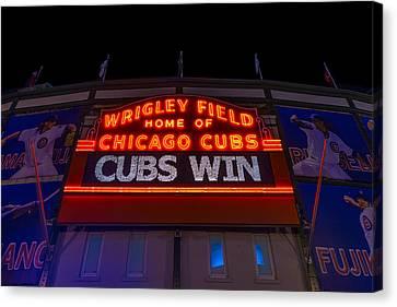 Cubs Win Canvas Print by Steve Gadomski
