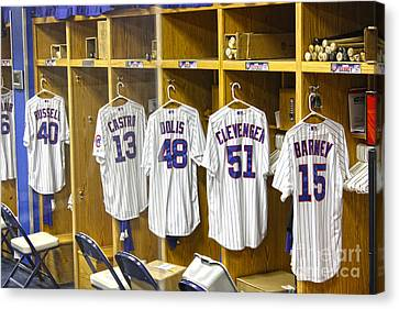 Dressing Room Canvas Print - Cubs Working Clothes by David Bearden