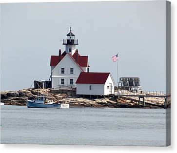 Cuckholds Lighthouse Canvas Print by Catherine Gagne