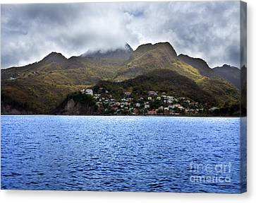 Canvas Print featuring the photograph Cuddled  Fishing Village by Rafael Quirindongo