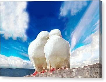 Cuddling Canvas Print by Bruce Iorio