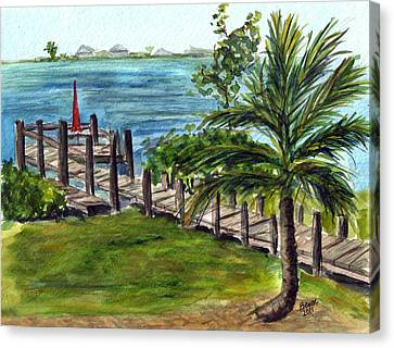 Cudjoe Dock Canvas Print