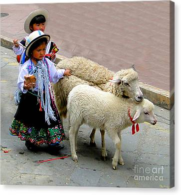 Cuenca Kids 233 Canvas Print by Al Bourassa