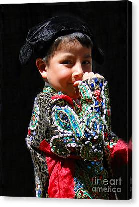 Cuenca Kids 243 Canvas Print by Al Bourassa