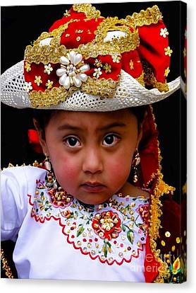Cuenca Kids 309 Canvas Print by Al Bourassa