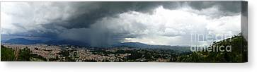Cuenca Storm Panorama Canvas Print by Al Bourassa