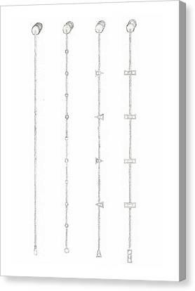 Cufflink Bracelets Version 1 Canvas Print