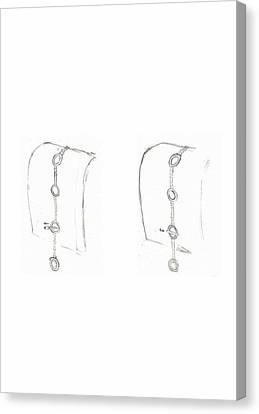 Cufflink Bracelets Version 2 Closing Canvas Print