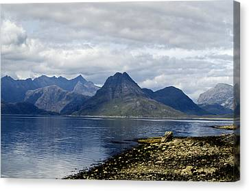 Canvas Print featuring the photograph Cuillin Hills From Elgol Isle Of Skye by Sally Ross