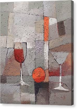 Cuisine Grey Canvas Print by Lutz Baar