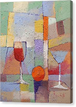 Cuisine Textured Canvas Print